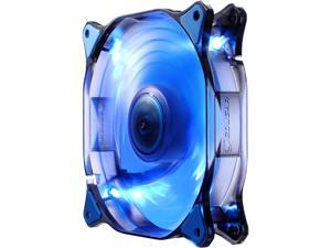 COUGAR 12CM Blue LED Hydraulic (Liquid) Bearing Ultra Silent Fan 1200RPM, 64.4CFM, 16.6dBA