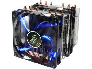 DEEPCOOL NEPTWIN CPU Cooler  6 Heatpipes Twin-tower Heatsink Dual 120mm Fans with Blue LED One with PWM Support LGA 2011-v3