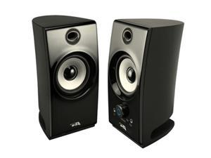 Cyber Acoustics CA-2022 5.0 Watts 2.0 2 Piece Amplified Desktop Speaker System