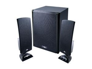 Cyber Acoustics CA-3402 2.1 3 Piece Flat Panel Design Subwoofer & Satellite Speaker System