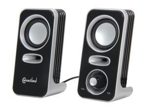 SYBA Connectland CL-SPK20116 Multimedia Stereo Speakers with Easy Access Volume Control Knob, USB Powered