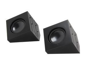 Sabrent SP-USLB Black USB-Powered Stero Speakers with AC Power, Transmits via USB or Aux