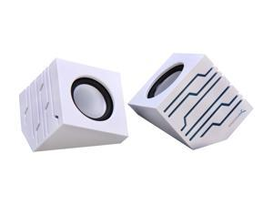 Sabrent SP-USLW White USB-Powered Stero Speakers with AC Power, Transmits via USB or Aux