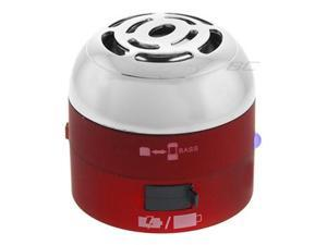 Go Rock Red Mini Portable Speaker w/ Retractable Cables TRMS02MC-RD
