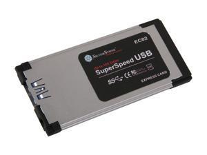 Silverstone EC02 Slim ExpressCard/34 USB 3.0 ExpressCard Adapter