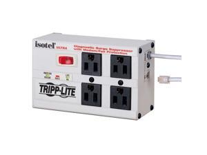 Tripp Lite ISOTEL4ULTRA 6ft Cord 4 Outlets 3330 Joules Isobar Surge Suppressor