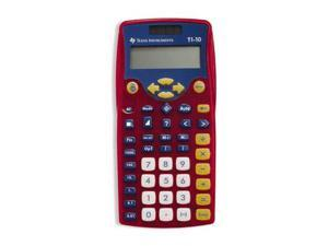 Texas Instruments TI10TK 2-line calculator with large keys - 10 Pack