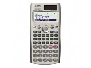 "Casio FC200V Financial Calculator - 12 Digit(s) - Dot Matrix - Battery/Solar Powered - 3.2"" x 6.3"" x 0.4"" - Silver - 1 Each"