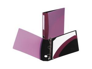 "Avery                                    Easy Access Round Ring Reference Binder, 1"" Capacity, Burgundy"