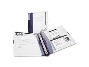 "Avery Silhouette Poly View Binder w/Inside Pocket, 1"" Capacity, Dark Blue"