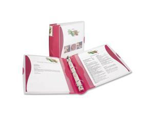 "Avery Silhouette Poly View Binder w/Inside Pocket, 1-1/2"" Capacity, Red"