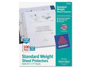 Avery Top-Load Polypropylene Sheet Protectors, Letter, Semi-Clear, 100/Box
