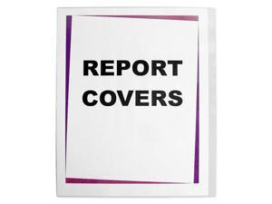 Polypropylene No-Punch Report Cover, Letter, 60 Sheet Capacity, Clear, 100/Box