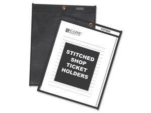 Shop Ticket Holders, 9 x 12, Clear Front w/Black Pressboard Back, 25/Box