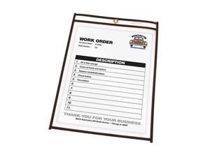 Shop Ticket Holders, 11 x 14, Clear Front & Back w/Black Stitching, 25/Box