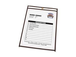 Shop Ticket Holders, 11 x 17, Clear Front & Back w/Black Stitching, 25/Box