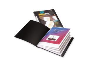 Cardinal ShowFile Display Book w/Custom Cover Pocket, 12 Letter-Size Sleeves, Black 50132