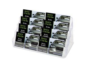 deflect-o                                Eight-Pocket Business Card Holder, Capacity 400 Cards, Clear