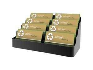 deflect-o                                Desktop Business Card Holder, Capacity 400 Cards, Black
