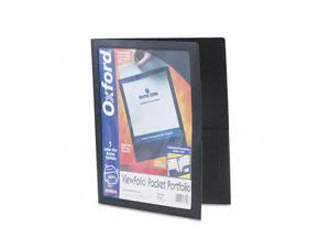 Oxford                                   ViewFolio Polypropylene Portfolio, 50-Sheet Capacity, Black/Clear