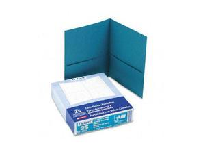 Oxford 57555 Twin-Pocket Portfolio, Embossed Leather Grain Paper, Teal