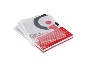 Office Impressions Top-Load Poly Sheet Protector, Letter, Clear, 100/Box