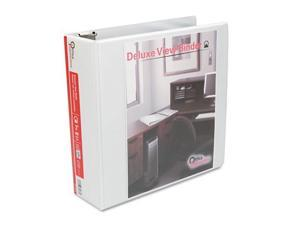 Office Impressions Round Ring Economy Vinyl View Binder, 3in Capacity, White