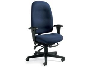 Global 32173NBKIM11 Granada Series High-Back Multi-Tilter Chair, Gray Fabric