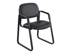 Safco 3447BL Cava Collection Sled Base Guest Chair, Black Vinyl