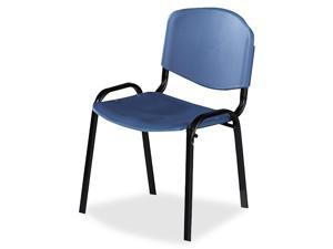 Safco 4185BU Contour Stacking Chairs, Blue w/Black Frame, 4/Carton