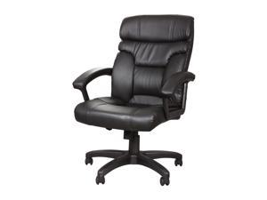 Rosewill High Back Leather Executive Chair - Black (RFFC-11008)