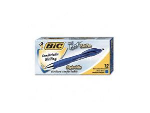 BIC BP11-BE Pro+ Ballpoint Retractable Pen, Blue Ink, Medium, Dozen