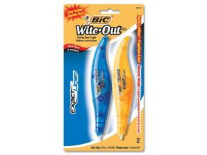 "BIC Wite-Out Exact Liner Correction Tape Pen, 1/5"" x 236"", 2/Pack"