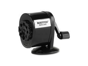 Table-Mount/Wall-Mount Antimicrobial Manual Pencil Sharpener, Black