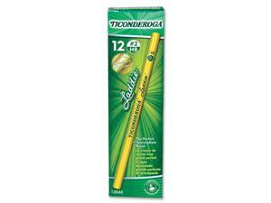 Dixon Ticonderoga Laddie Woodcase Pencil w/o Eraser, HB #2, Yellow Barrel, Dozen