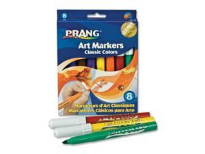 Dixon Prang Classic Art Markers, Conical Tip, Eight Colors, 8/Pack