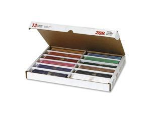 Prang 82408 Prang Colored Woodcase Pencils, 3.3 mm, 12 Asstd Colors, 288 Pencils/Box