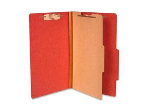 ACCO                                     Pressboard 25-Pt. Classification Folder, Legal, Four-Section, Earth Red, 10/Box