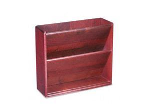 Hardwood Double Wall File, Letter, Two Pocket, Mahogany