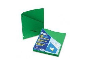 Pendaflex 32925 Essentials Slash Pocket Project Folders, Jacket, Letter, Green, 25/Pack