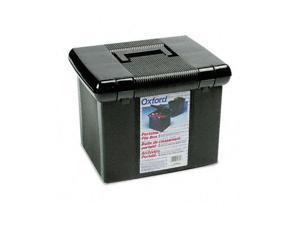 Pendaflex                                Portafile File Storage Box, Letter, Plastic, 14-7/8 x 12-1/8 x 11-7/8, Black