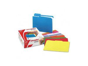 Pendaflex                                Two-Ply Reinforced File Folders, 1/3 Cut Top Tab, Letter, Assorted, 100/Box
