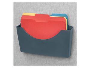 FELLOWES                                 Plastic Partition Additions File Pocket, Legal/Letter, Dark Graphite