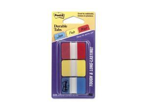 Post-it                                  Durable File Tabs, 1 x 1 1/2, Assorted Standard Colors, 66/Pack