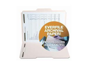 S J Paper S11571 Archival File Folders, Antimicrobial, 1/3 Cut Top Tab, Letter, Manila, 50/Box