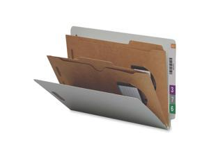Smead                                    Pressboard End Tab Classification Folders, Pockets, Legal, Six-Section, 10/Box