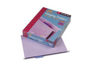 Smead Hanging File Folders, 1/5 Tab, 11 Point Stock, Letter, Lavender, 25/Box