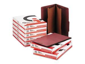 Office Impressions Pressboard Classification Folder, Legal, 6-Section, Red, 10/Box