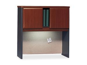 BUSH FURNITURE Series A Hutch, 36w x 13-7/8d x 36-1/2h, Hansen Cherry/Galaxy