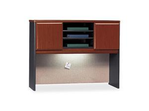 BUSH FURNITURE Series A Hutch, 48w x 13-7/8d x 36-1/2h, Hansen Cherry/Galaxy